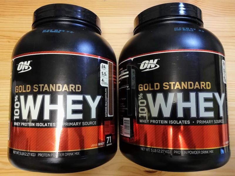 Optimum Nutrition、ゴールドスタンダードのプロテイン2種類