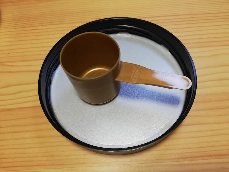 Optimum Nutrition ゴールドスタンダード ダブルリッチチョコレートのスプーン