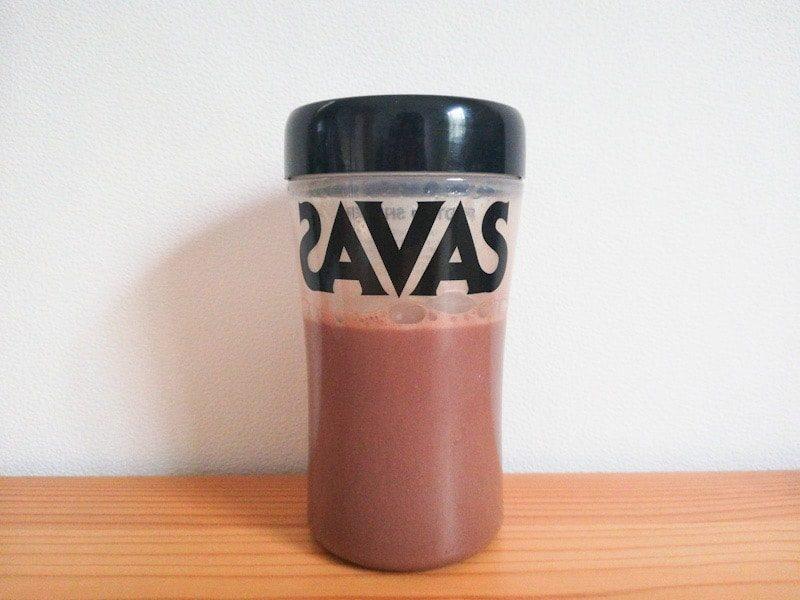 MusclePharmのプロテイン『COMBAT チョコレートミルク味』を溶かしたシェイカー