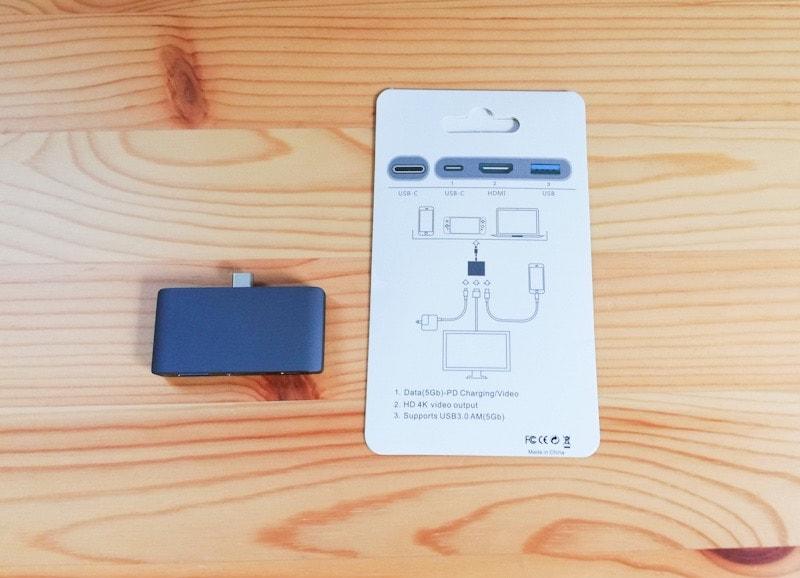iPad Proに接続するUSB-cハブと説明書