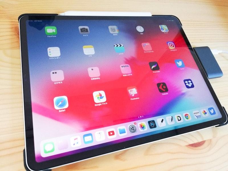 iPad ProとUSB-cハブ、マルチポートアダプタの接続