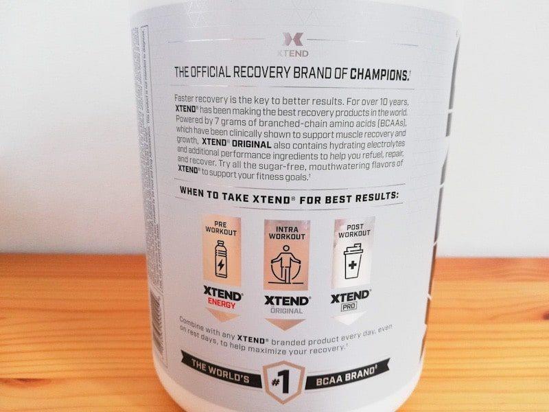xtendのBCAAsのレモンライム味の飲むタイミング