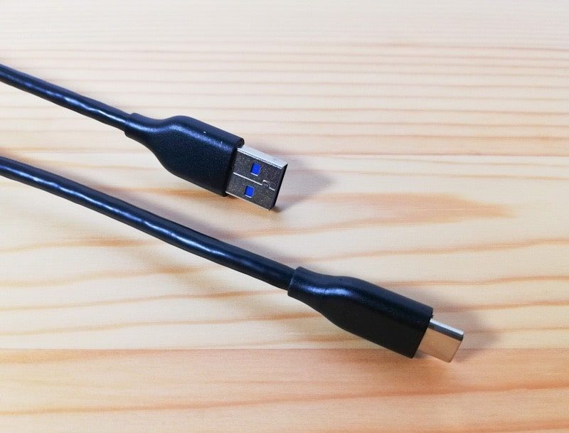 Anker PowerLine USB-C to USB 3.0のケーブルの端子部分