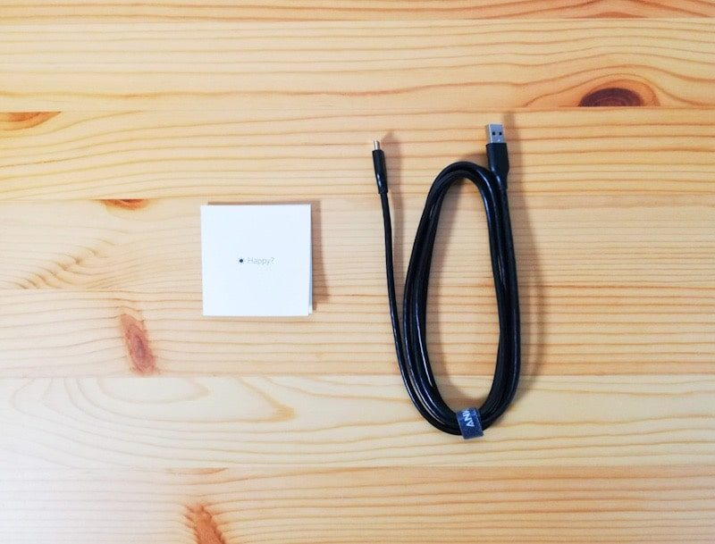 Anker PowerLine USB-C to USB 3.0の内容物