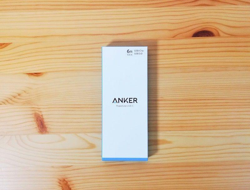 Anker PowerLine USB-C to USB 3.0の箱の外観