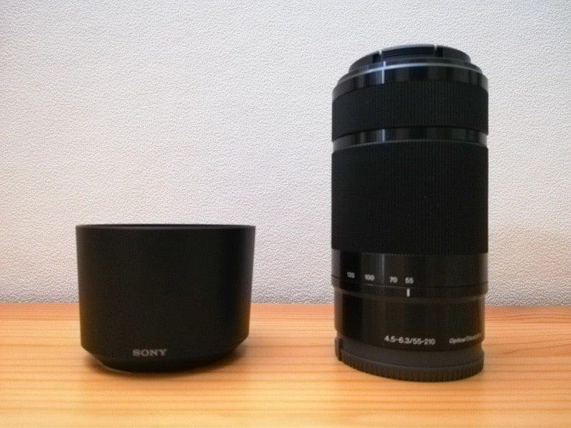 SONY α6400 ダブルズームキットの望遠レンズE 55-210mm F4.5-6.3 OSS
