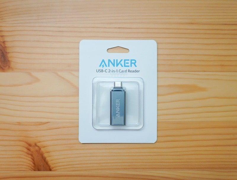 Anker USB-C 2-in-1 カードリーダーのパッケージ