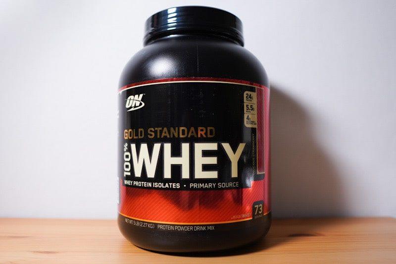 Optimum Nutrition ゴールドスタンダードおいしいイチゴ味のプロテイン