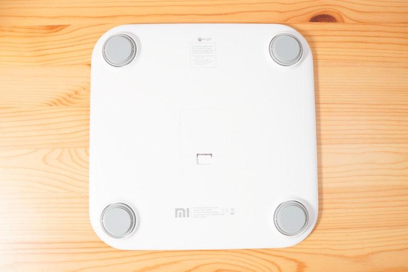 Xiaomiのスマートスケール(体組成計)の裏面