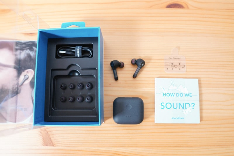 Anker Soundcore Liberty Air 2の内容物