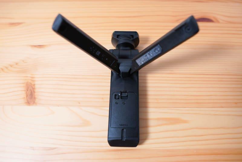 SONYのVLOGCAM『ZV-1』のシューティンググリップの脚