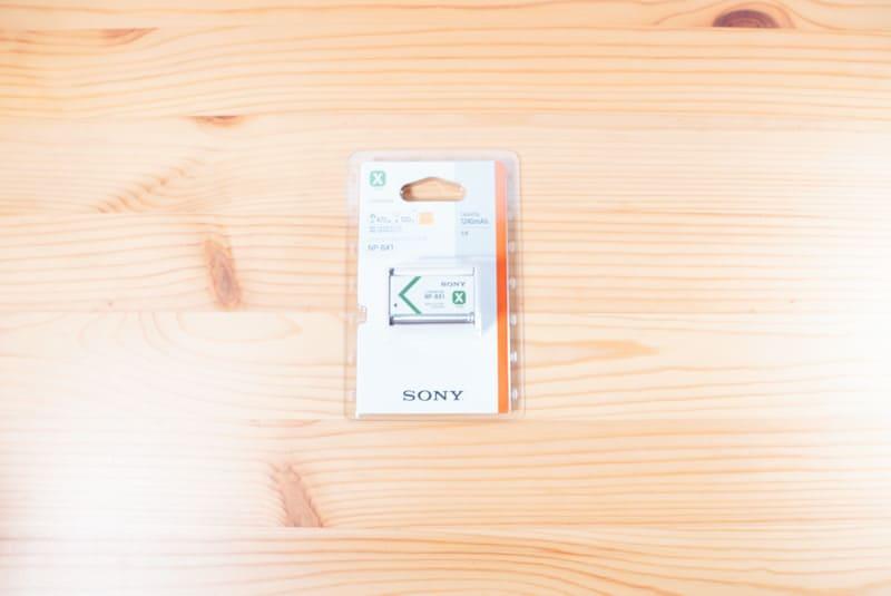 SONYのZV-1の予備バッテリー