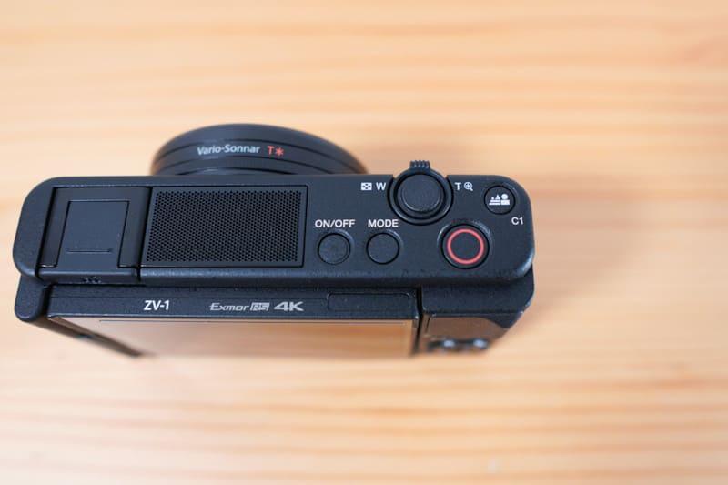 SONYのVLOGCAM『ZV-1』のボタン