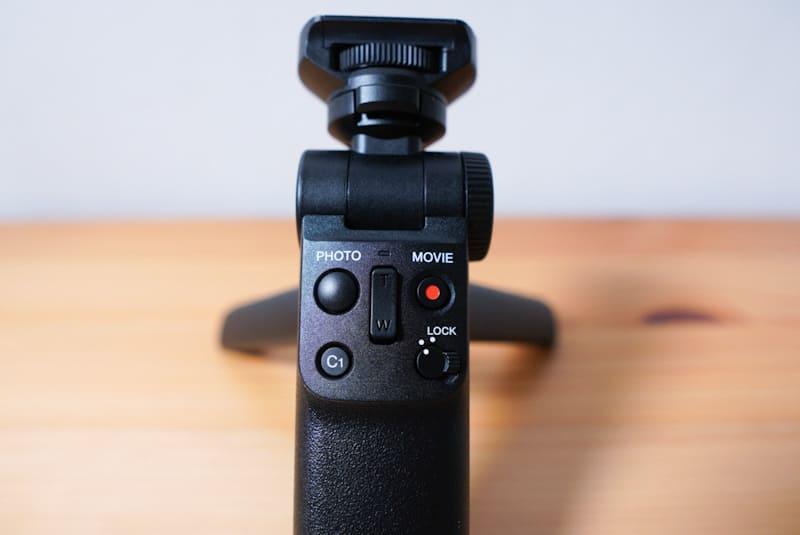 SONYのVLOGCAM『ZV-1』のシューティンググリップのボタン